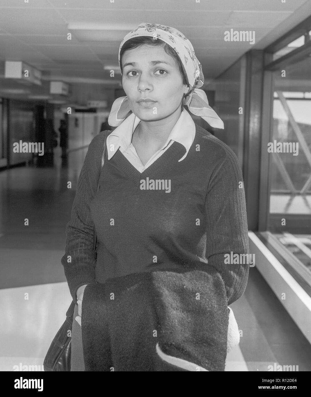 Soviet activist Avital Sharansky arriving in London in 1981  campaigning for the release of her husband Nathan Sharansky who being held in prison in The soviet Union on a charge of high treason. - Stock Image