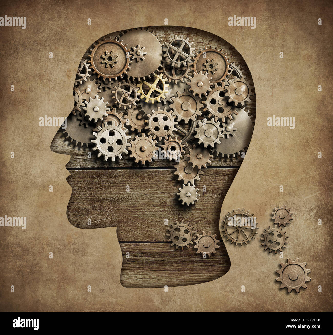Psychology concept 3d illustration - Stock Image