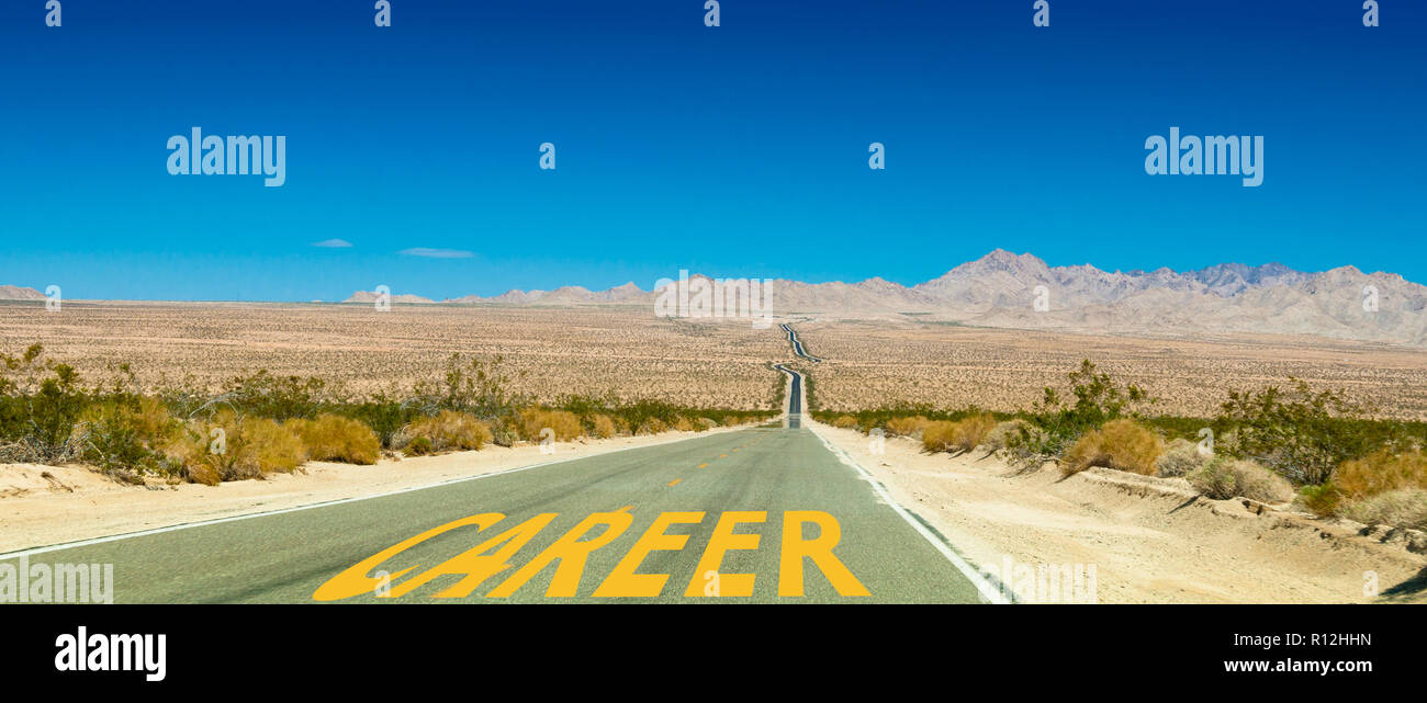 Career Road - Stock Image