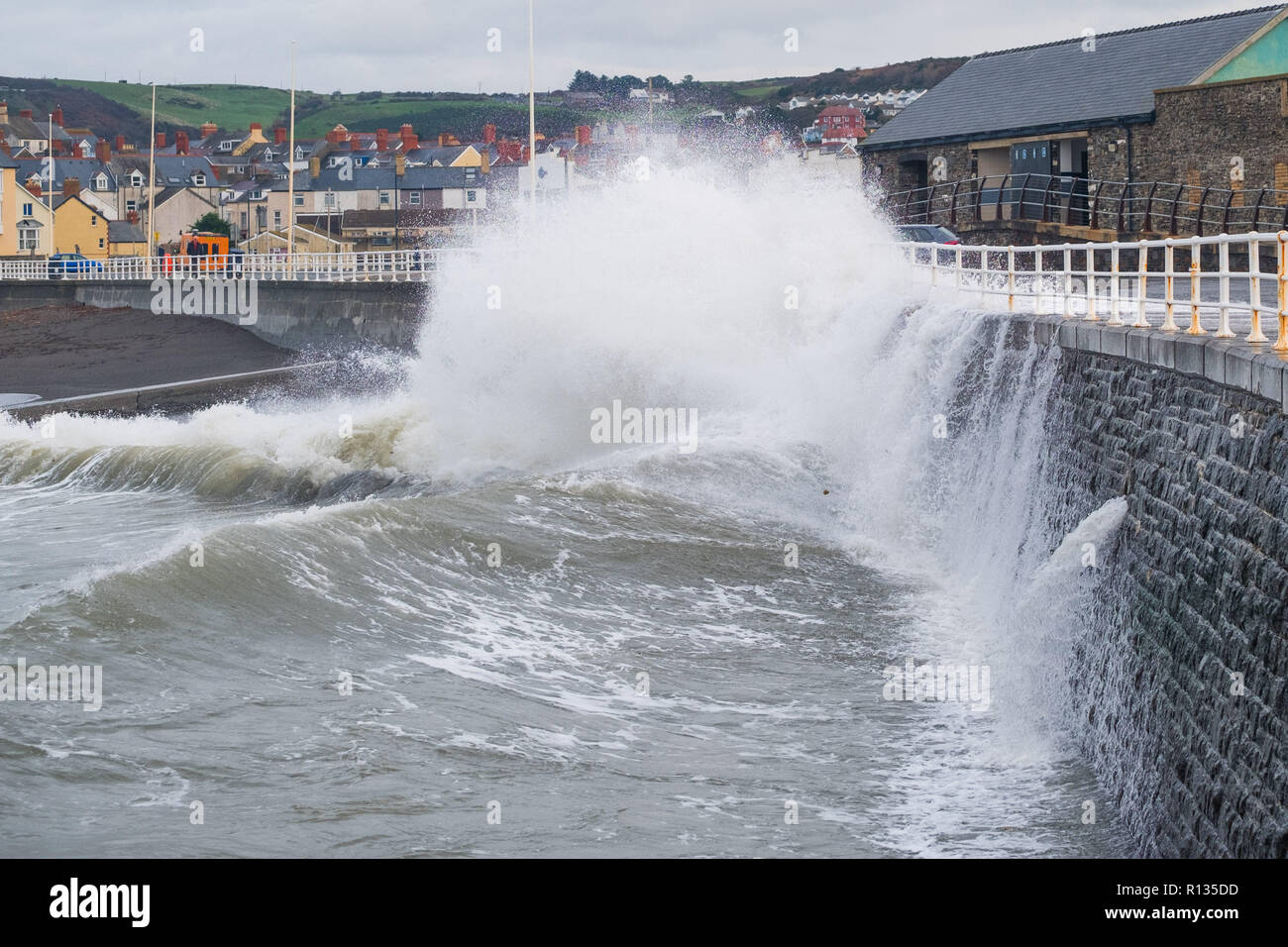 Aberystwyth Wales UK, 9th Nov 2018  UK Weather: At the