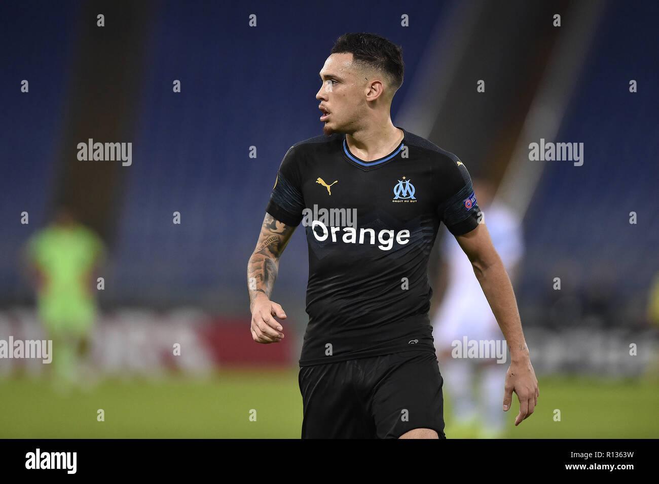 Lucas Ocampos Of Olympique De Marseille High Resolution Stock ...