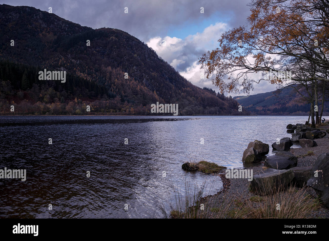 Loch Viel in the still of a winter's day - Stock Image