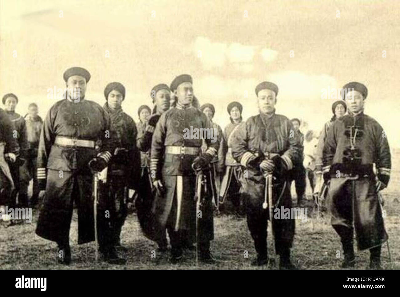 Qing imperial soldiers during the Boxer Rebellion - Stock Image