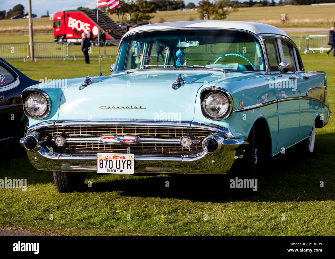 An old American Chevrolet car from the 1950s Stock Photo