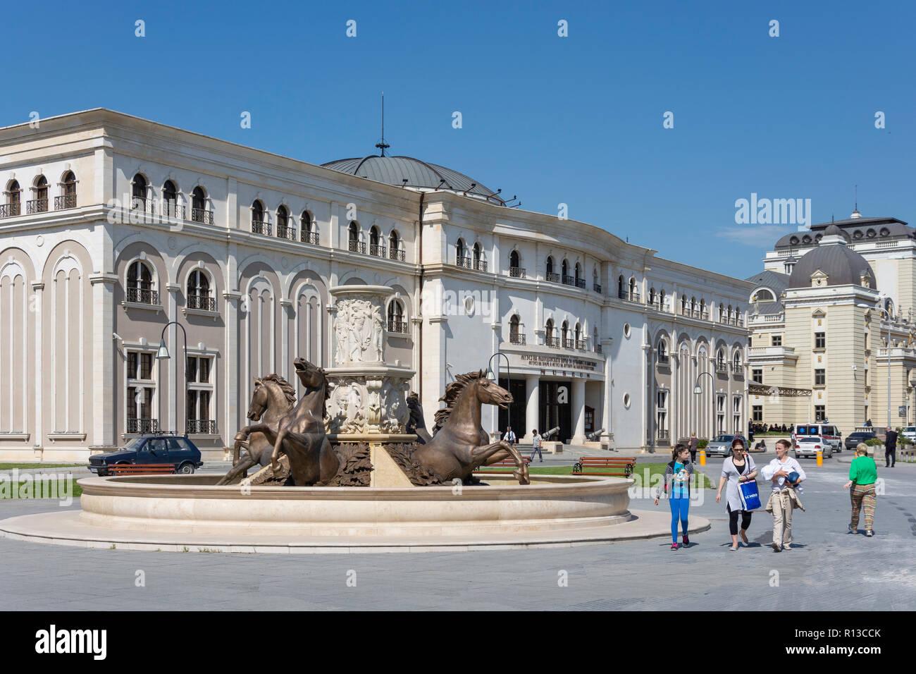 Museum of the Macedonian Struggle, Iljo Vojvoda, Skopje, Skopje Region, Republic of North Macedonia - Stock Image