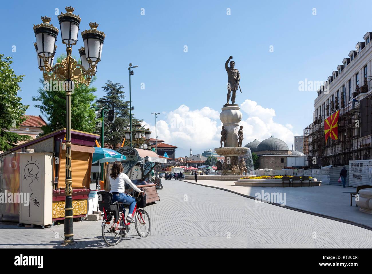 Karposh Uprising Square, Old Bazaar, Skopje, Skopje Region, Republic of Macedonia - Stock Image