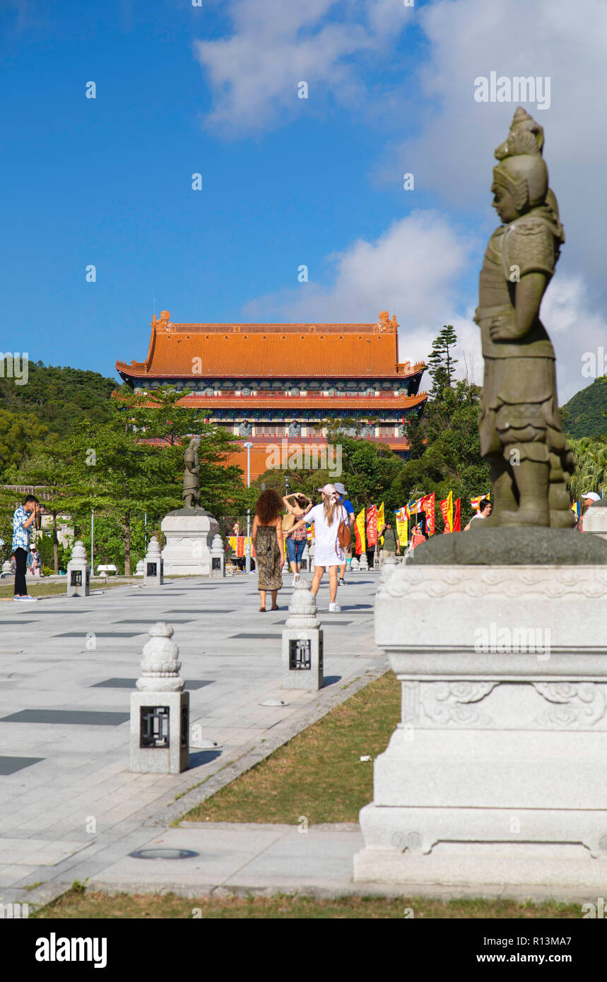 Po Lin Monastery, Ngong Ping, Lantau, Hong Kong - Stock Image
