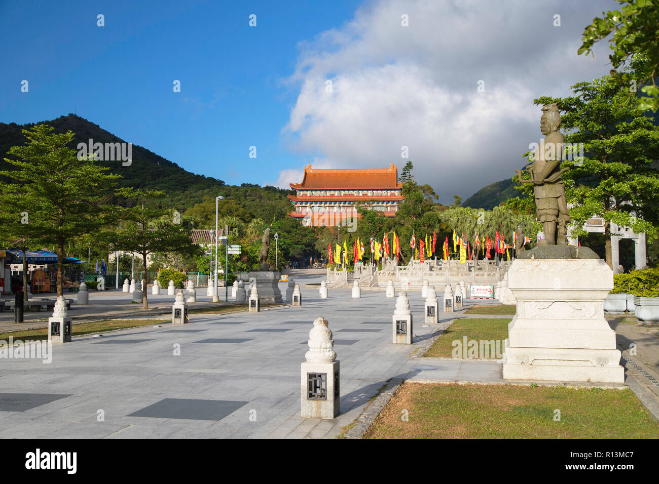 Po Lin Monastery, Ngong Ping, Lantau, Hong Kong Stock Photo