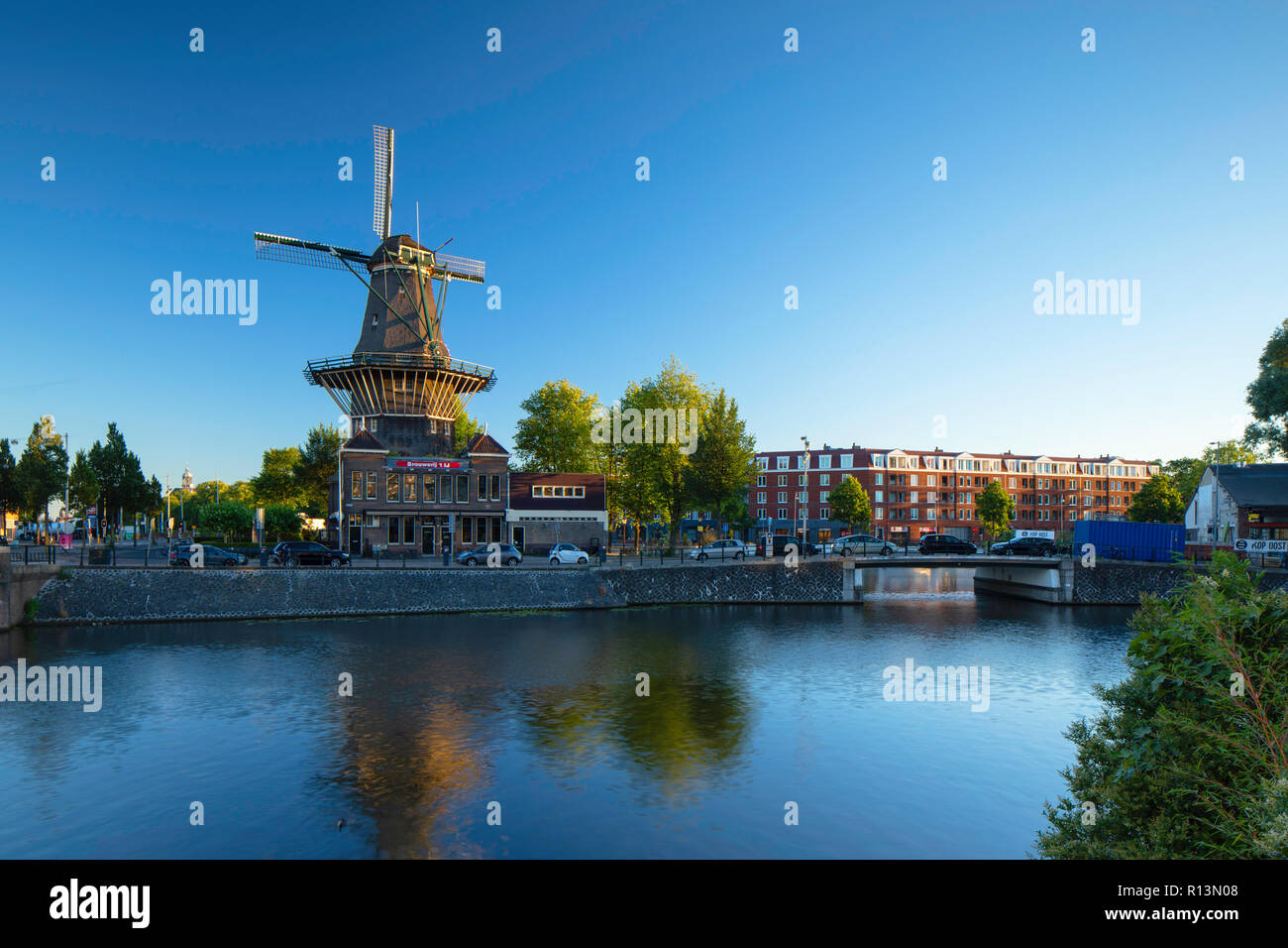 De Gooyer windmil, Amsterdam, Noord Holland, Netherlands - Stock Image