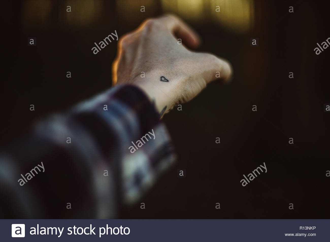 Close-up shot of a hand - Stock Image