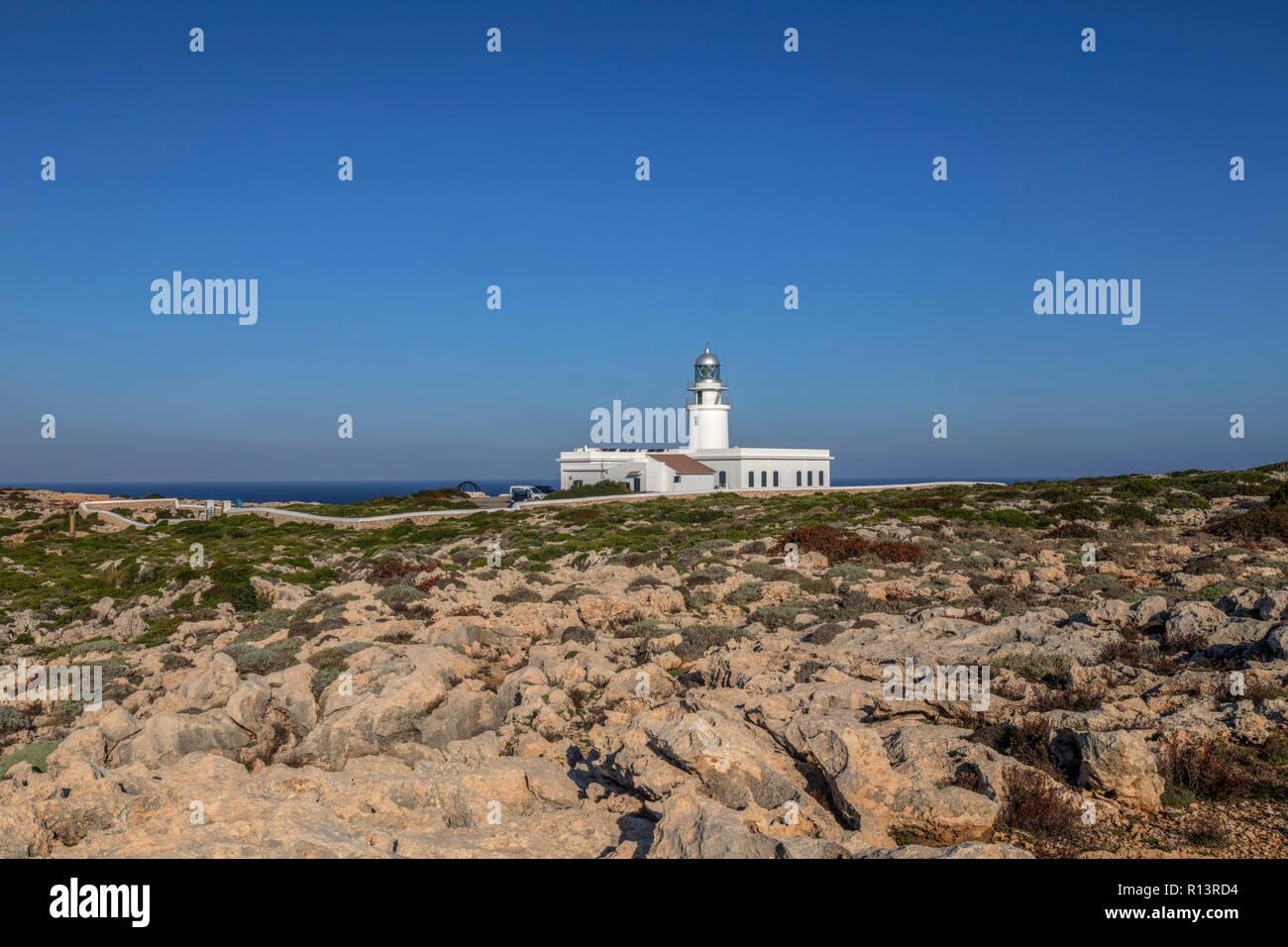 Far de Cavalleria, Menorca, Balearic Islands, Spain, Europe - Stock Image
