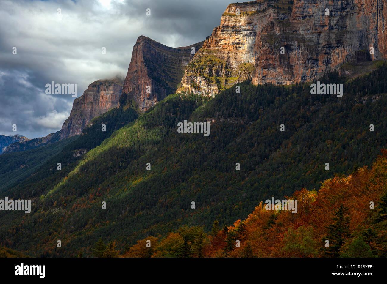 National park of Ordesa and Monte Perdido. Huesca, Spain Stock Photo