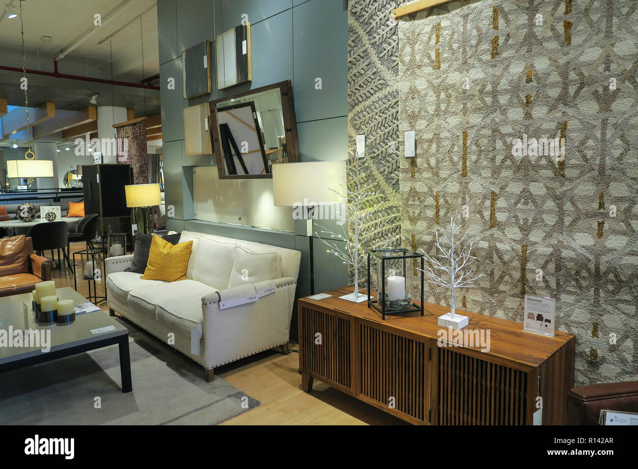 Cb2 Furniture Store Interior Nyc Usa Stock Photo 224439119 Alamy