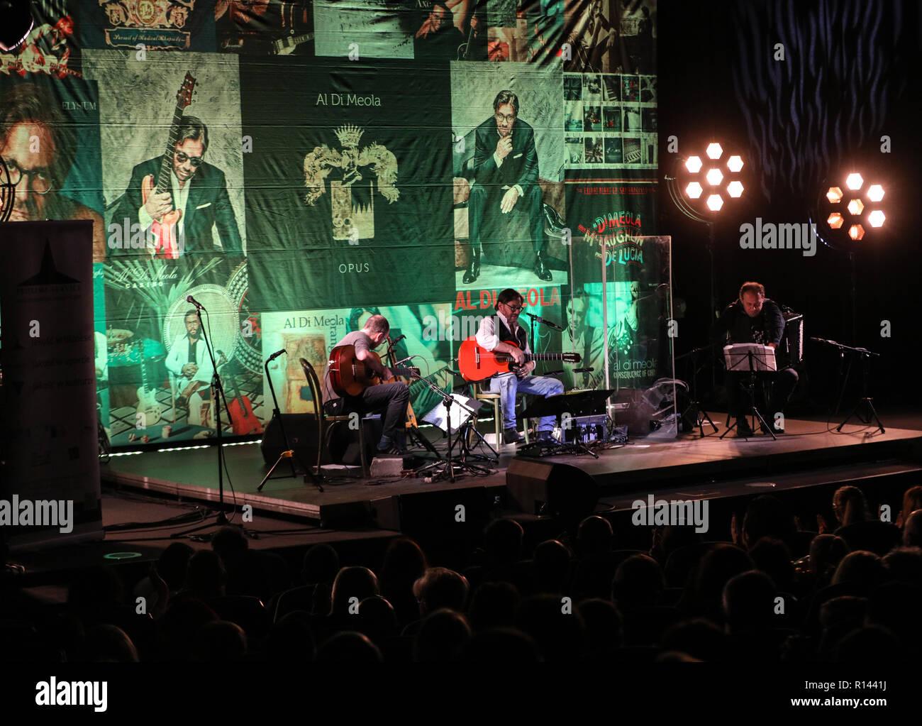 Cracow, Poland - November 2, 2018: American jazz fusion and