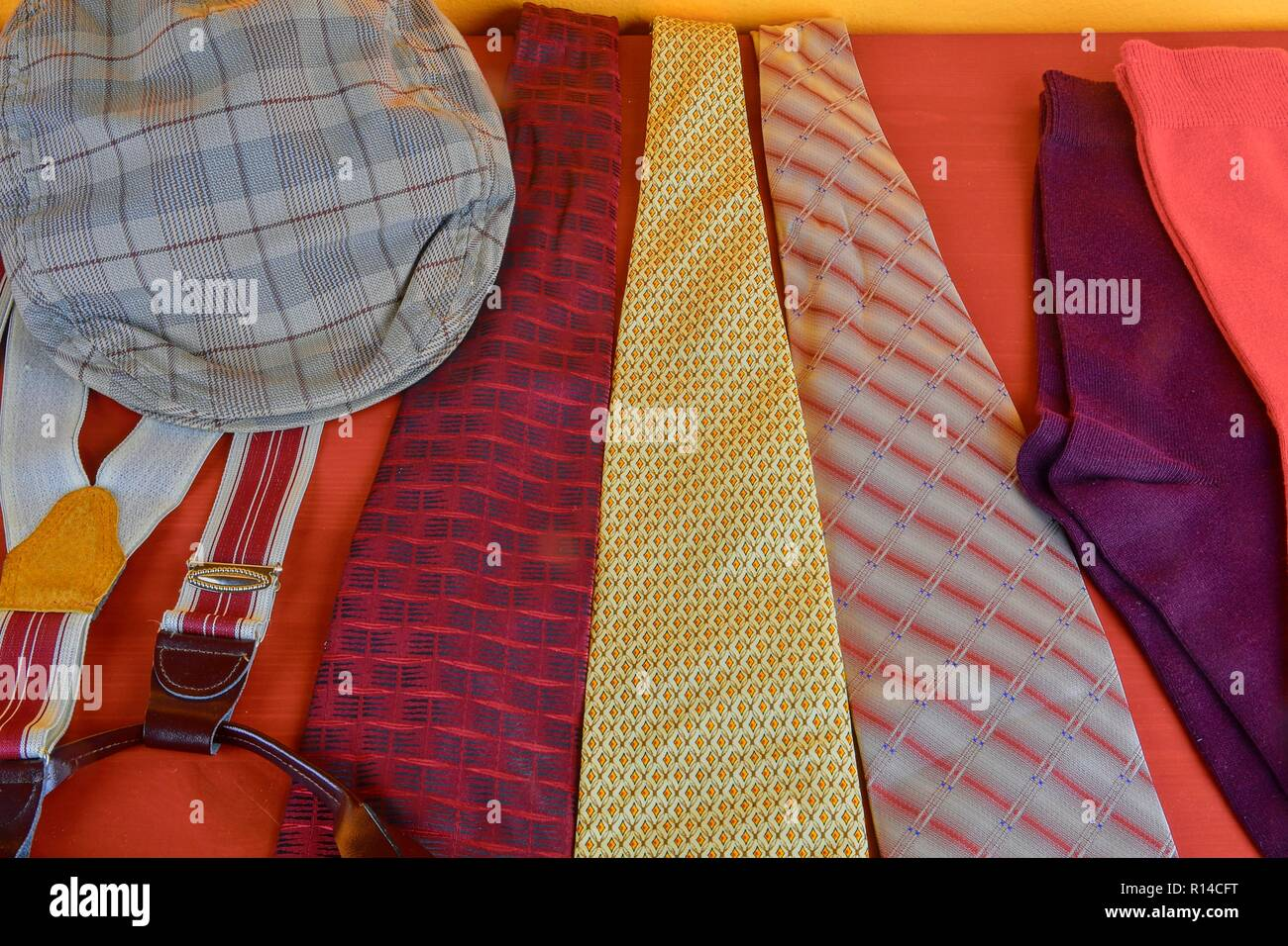 Socks Walking Stock Photos Images Page 3 Alamy Clarette Sandals Cristina Beige Man Garments Clothing Concept For Men Colorful Ties Braces And Checked