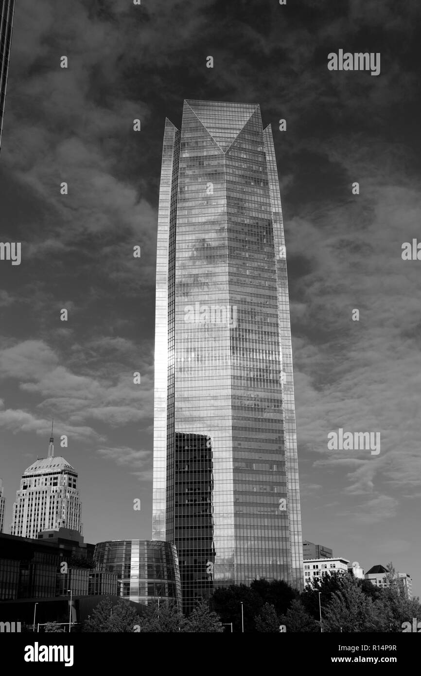 October 11 2018 oklahoma city usa features devon energy center skycrapper