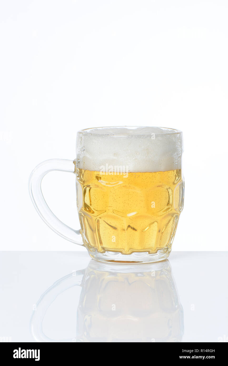 pitcher of beer on white background stock photo 224455745 alamy
