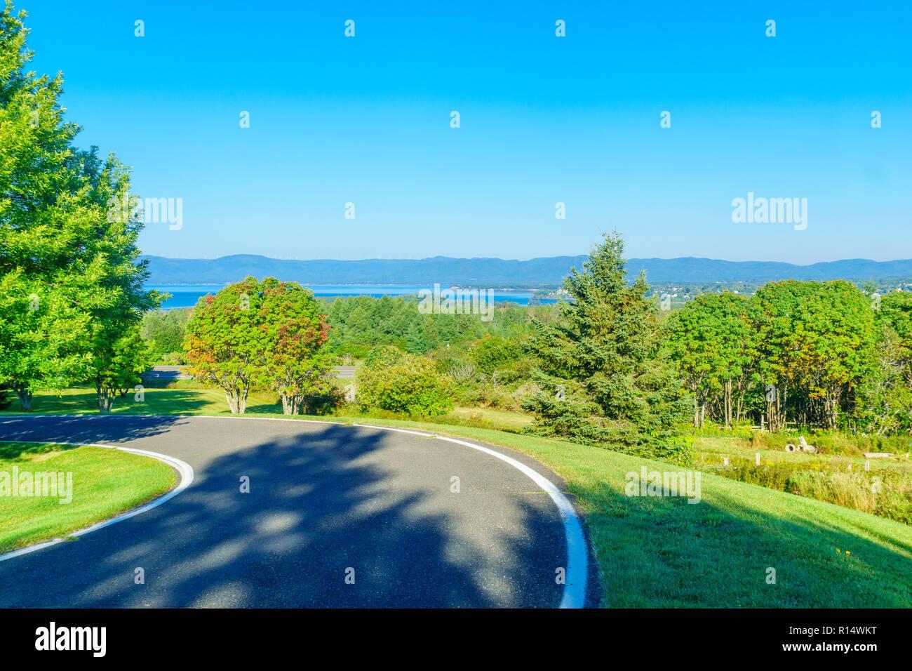 Landscape near New Richmond, Gaspe Peninsula, Quebec, Canada - Stock Image