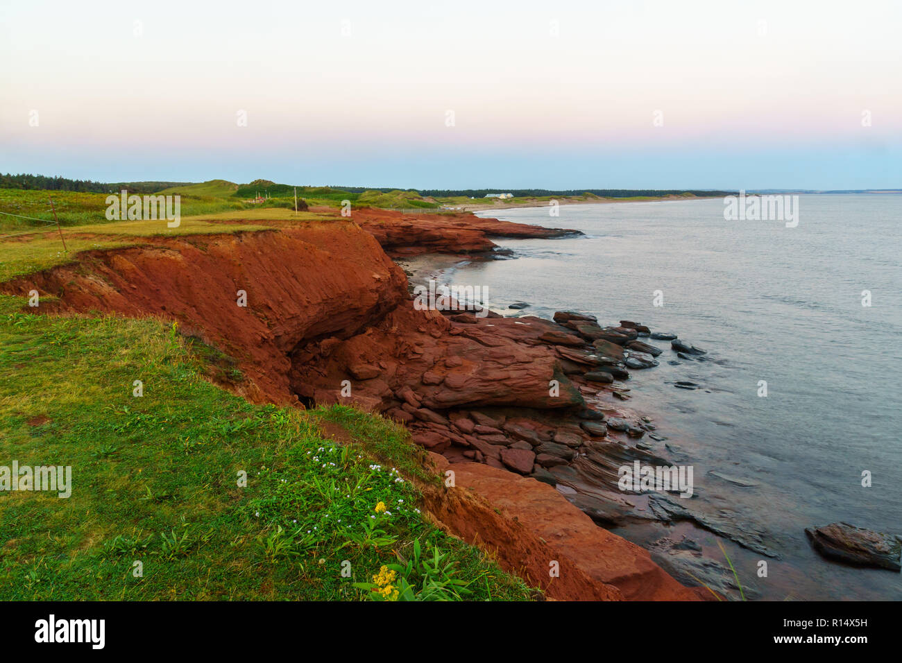 Sunrise view in the Oceanview Lookoff, Cavendish, Prince Edward Island, Canada - Stock Image