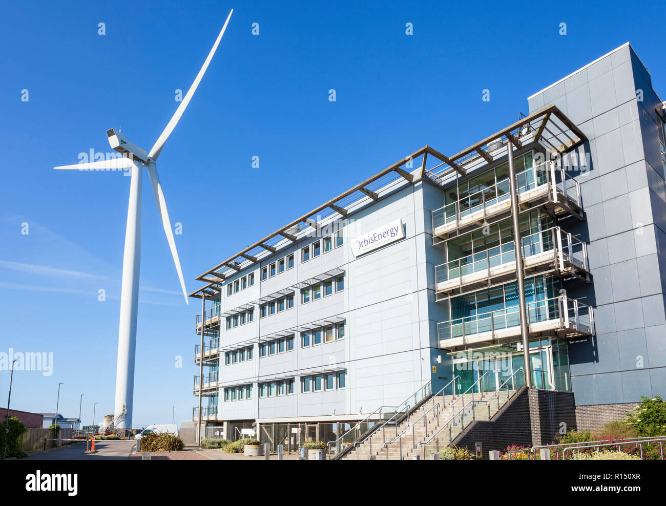 Orbis Energy an office hub for offshore renewable energy companies using offshore wind wave and tidal technologies Wilde street Lowestoft UK - Stock Image