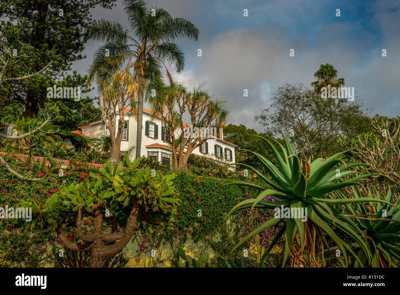 Herrenhaus, Botanischer Garten, Funchal, Madeira, Portugal Stock Photo