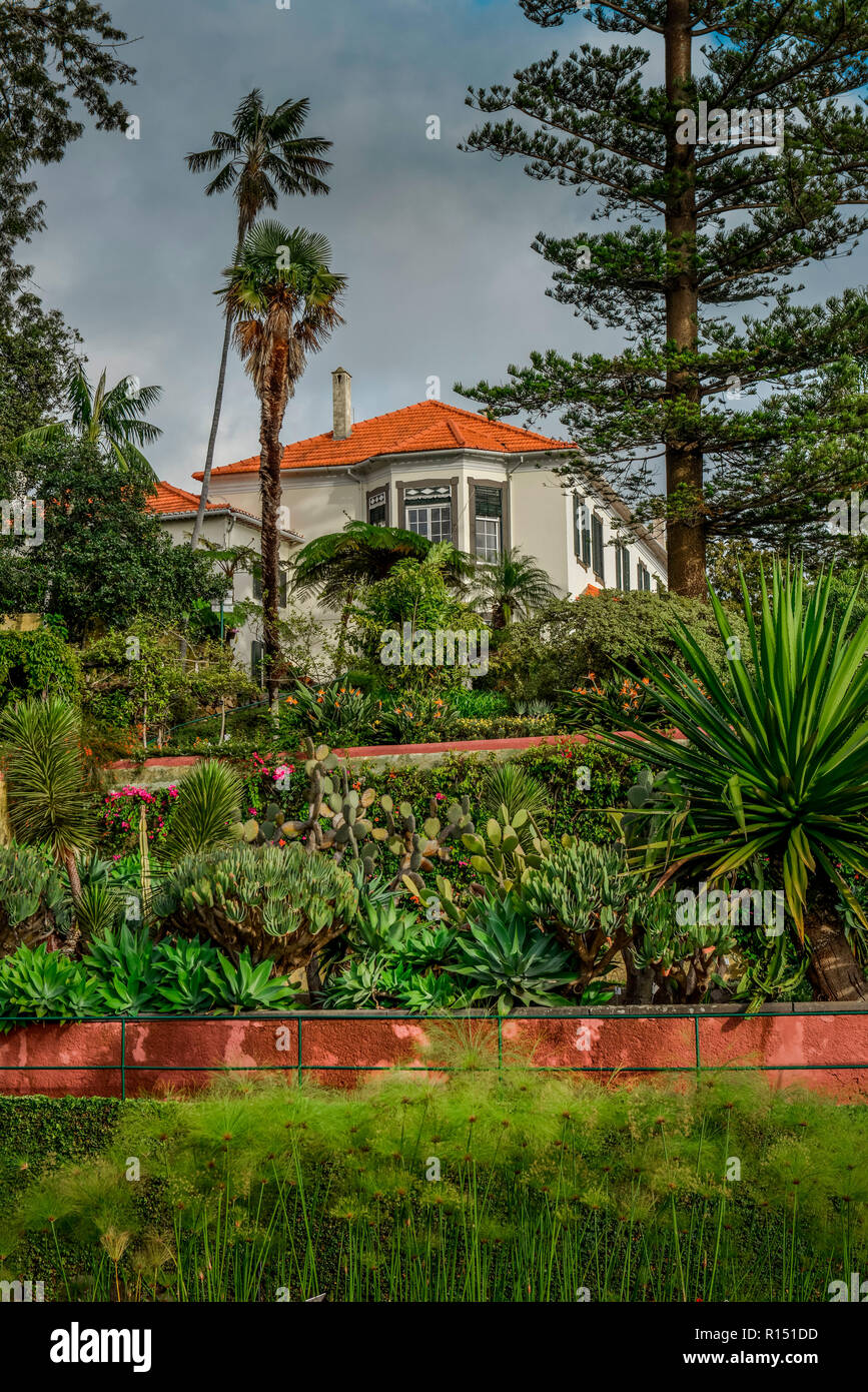 Herrenhaus, Botanischer Garten, Funchal, Madeira, Portugal Stock Photo