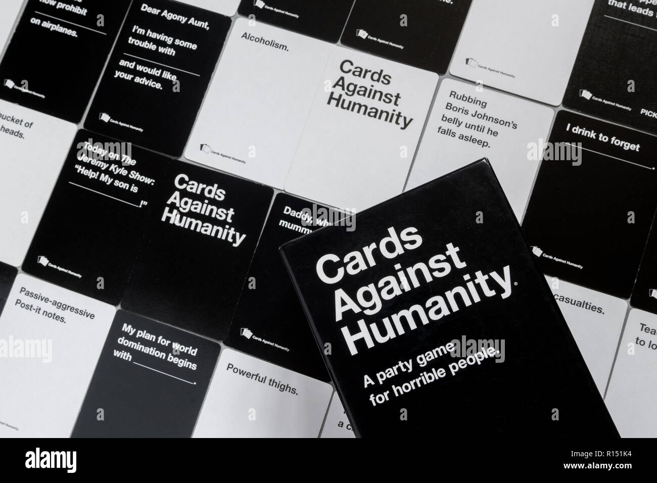 Cards Against Humanity game - UK edition - Stock Image
