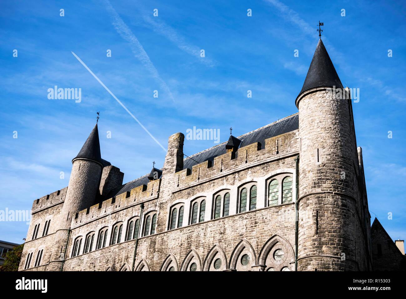 Geeraard de Duivelsteen, Ghent, Belgium - Stock Image