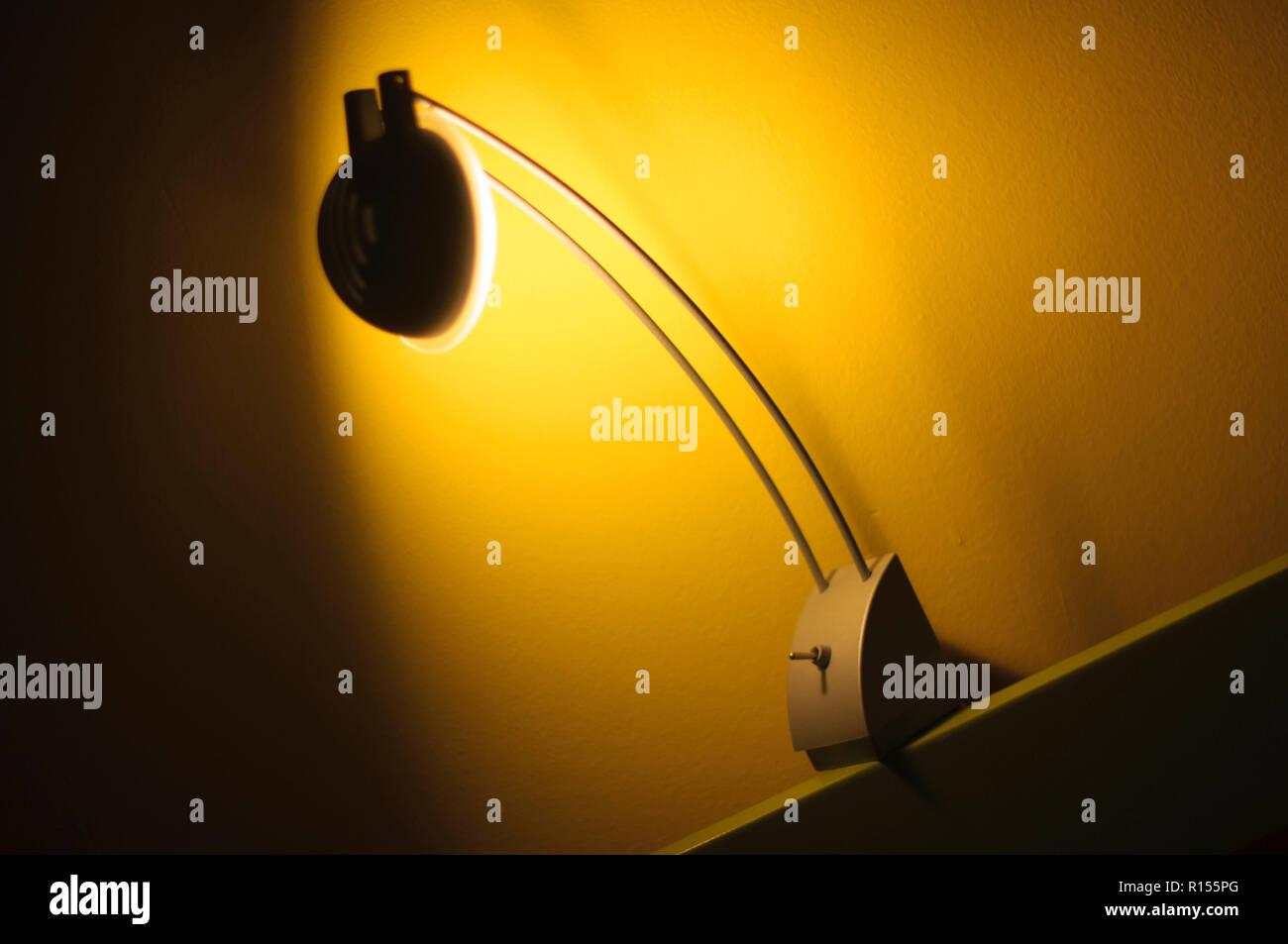 Night light table - Stock Image