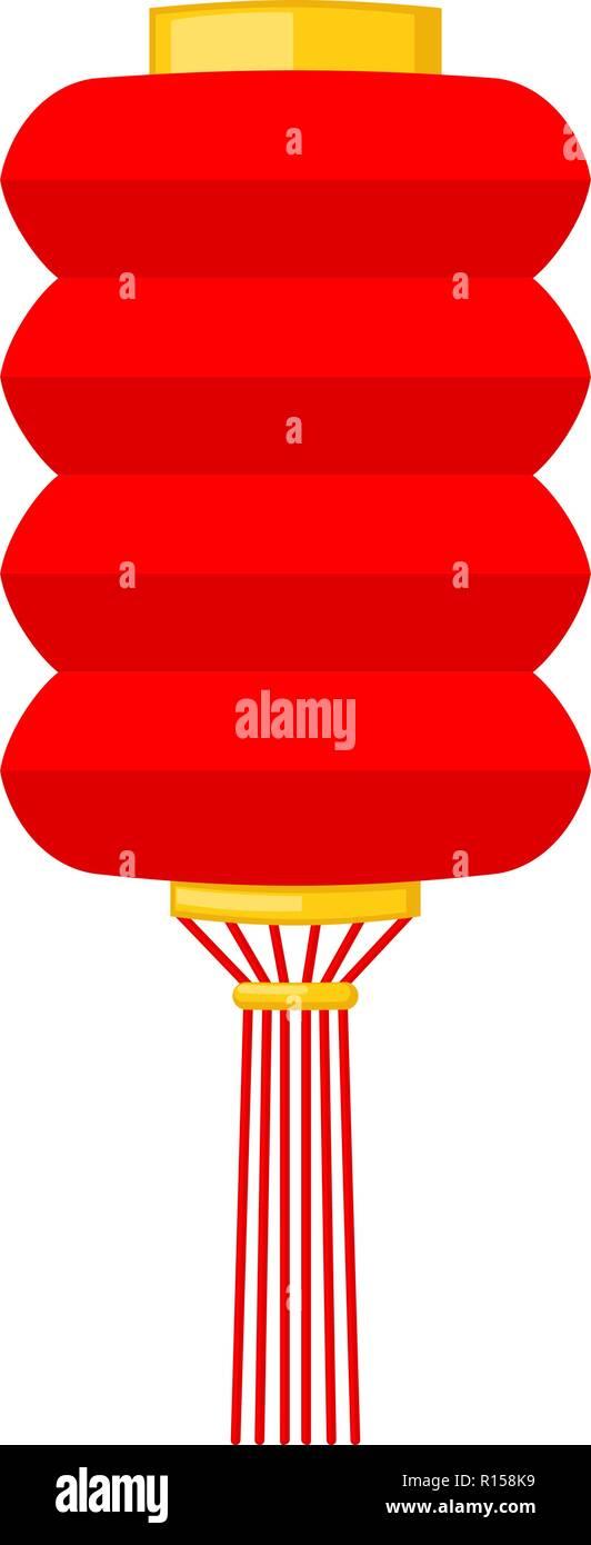 Cartoon red chinese paper lantern Stock Vector