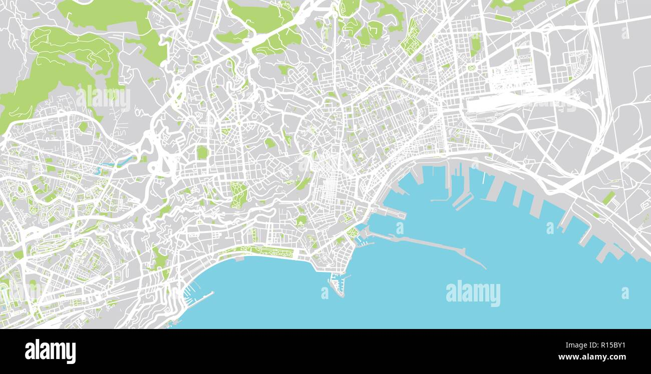 Urban vector city map of Naples, Italy Stock Vector Art ...