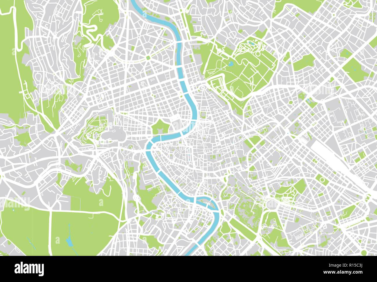 Urban vector city map of Rome, Italy Stock Vector Art ...