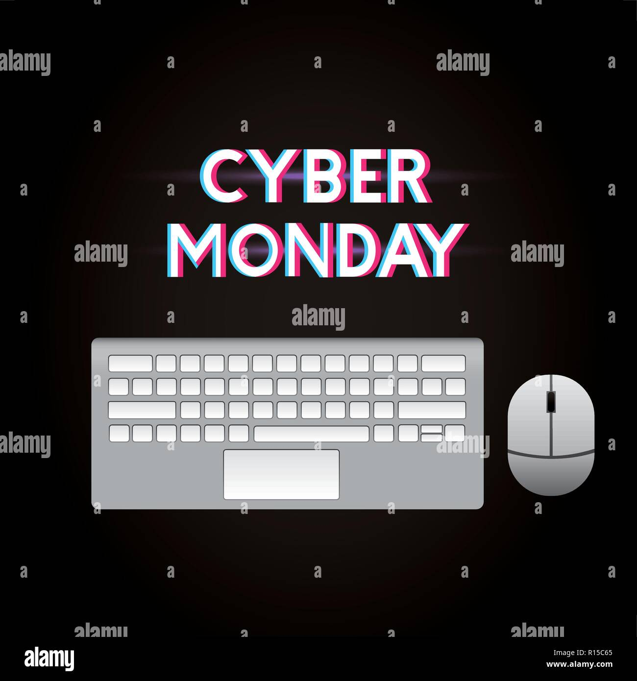 e1c74380ab cyber monday keyboard mouse sign vector illustration Stock Vector ...