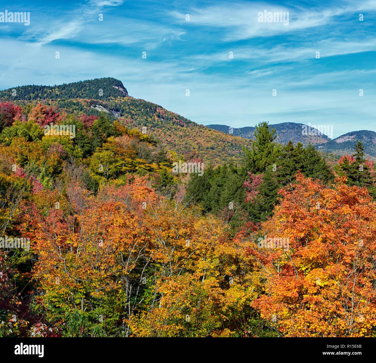 Autumn In The White Mountains Of New Hampshire Stock Photo