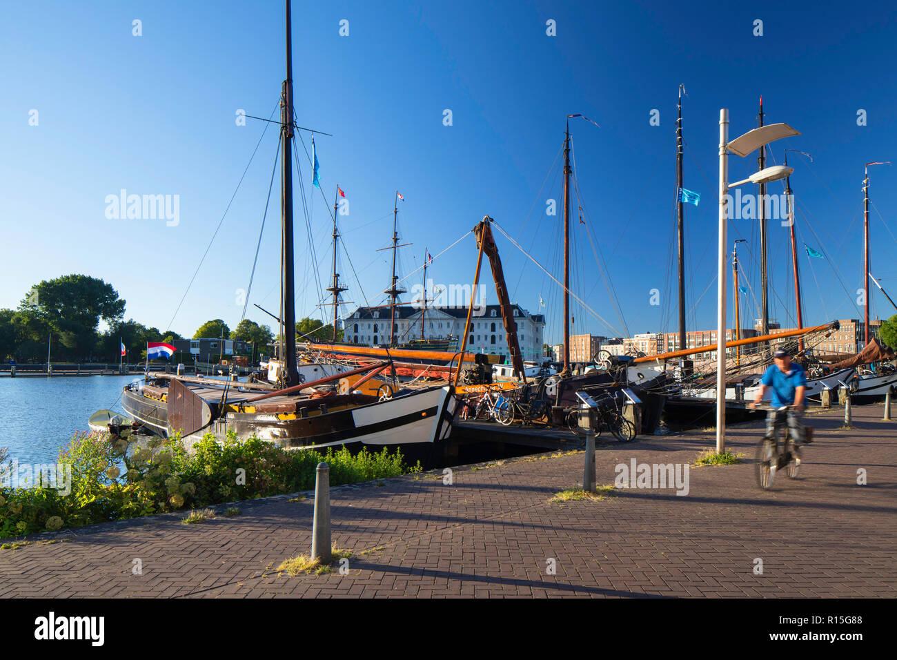 Maritme Museum, Oosterdok, Amsterdam, Noord Holland, Netherlands - Stock Image