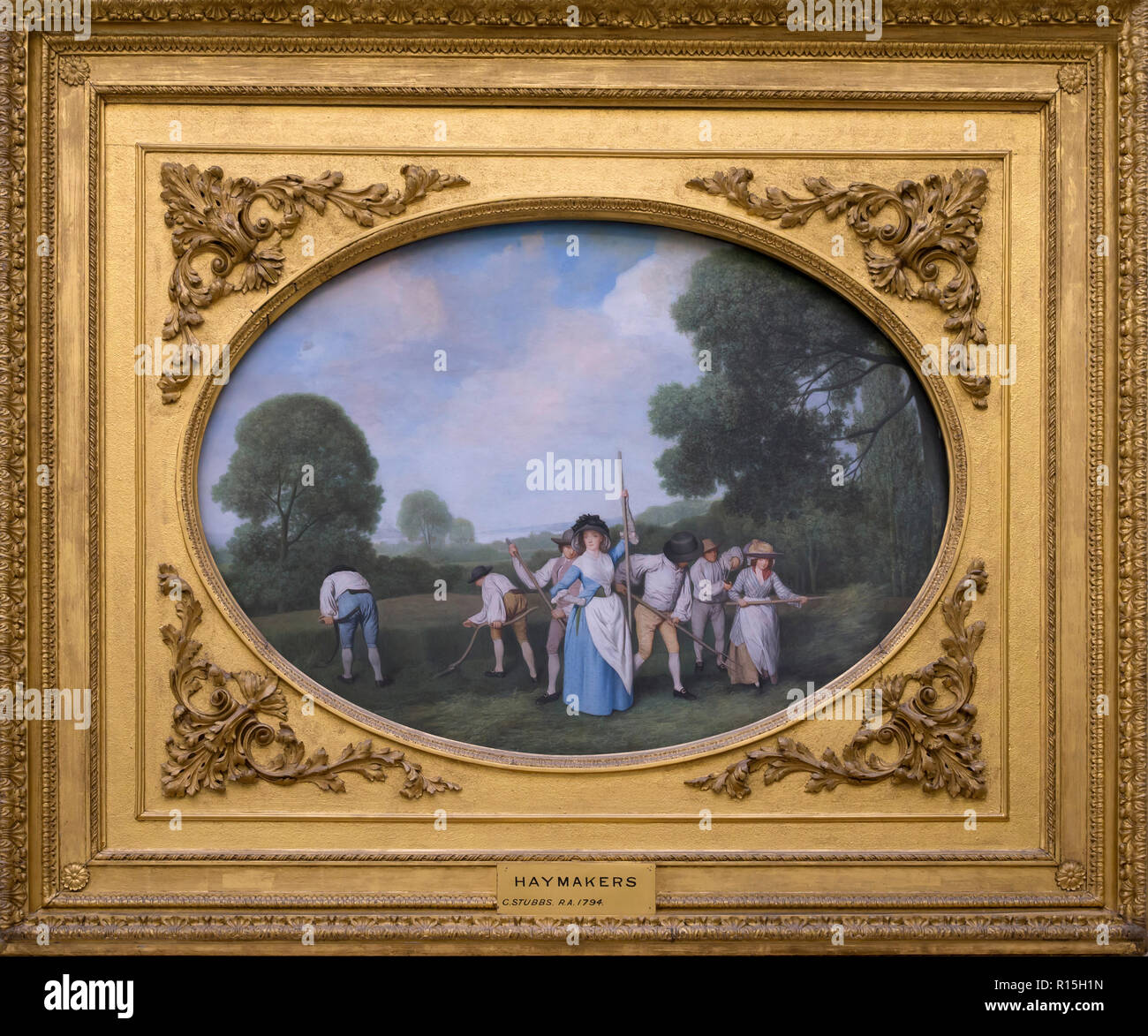 Haymakers, George Stubbs, 1794, Lady Lever Art Gallery, Port Sunlight, Liverpool, England, UK, Europe - Stock Image