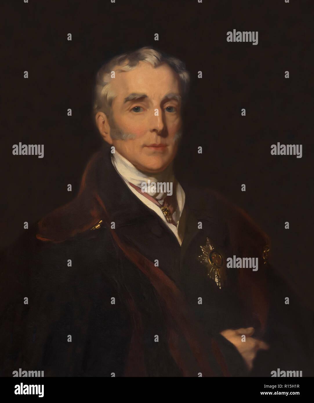 Duke of Wellington, Portrait, John Lucas, 1839, Lady Lever Art Gallery, Port Sunlight, Liverpool, England, UK, Europe - Stock Image