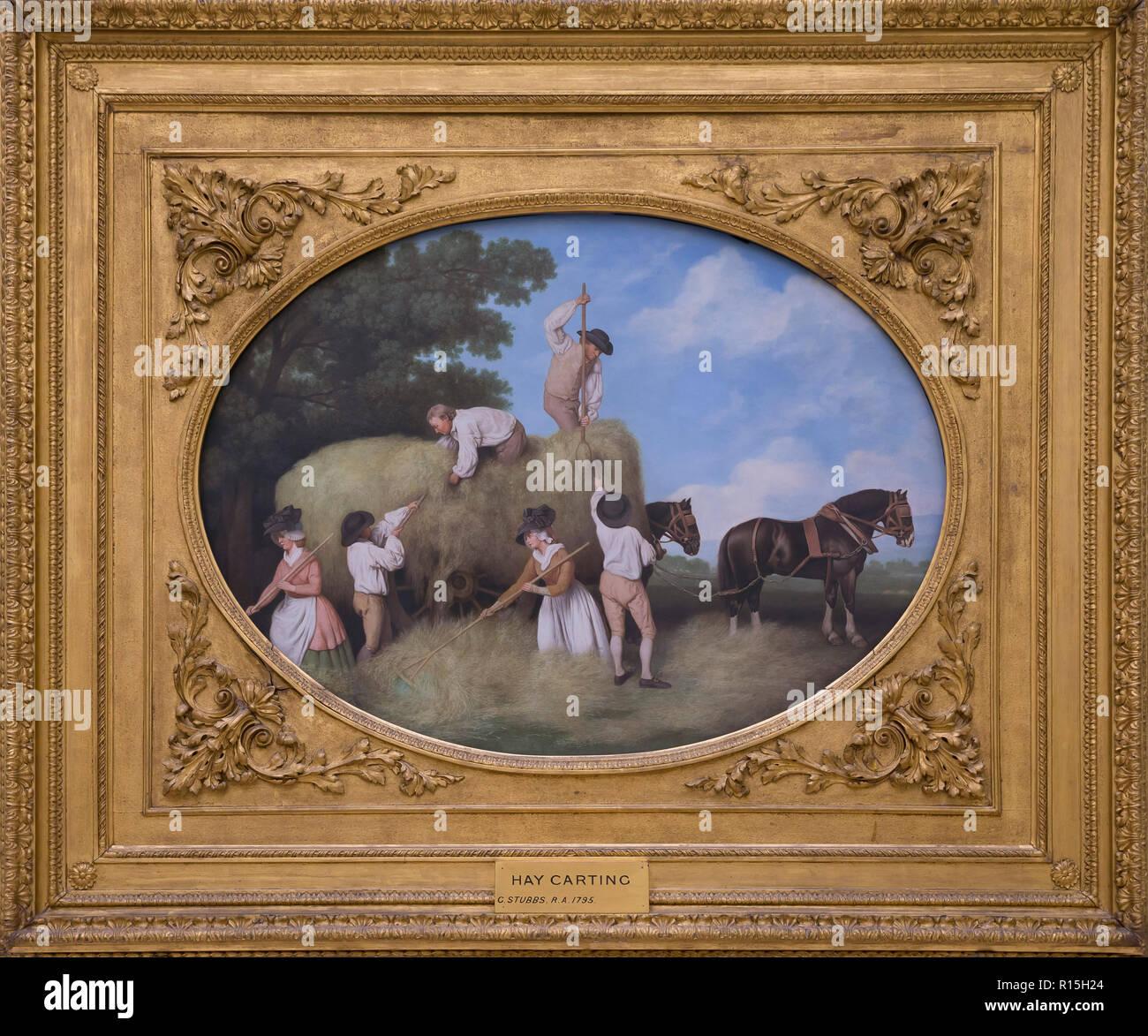 Haycarting, George Stubbs, 1795, Lady Lever Art Gallery, Port Sunlight, Liverpool, England, UK, Europe - Stock Image