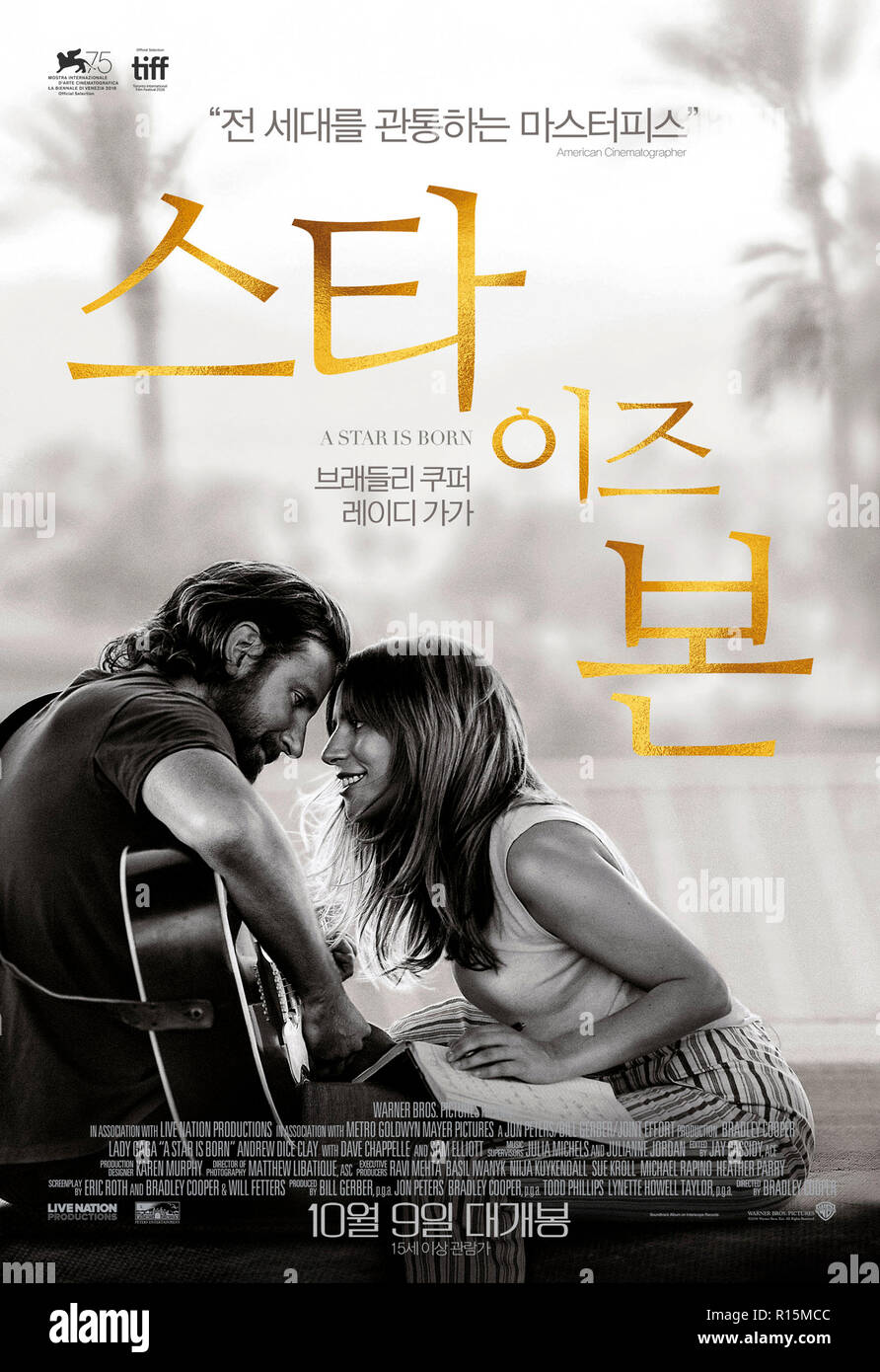 Prod DB © Warner Bros. - Gerber Pictures - Joint Effort - Malpaso Productions - Thunder Road Pictures / DR A STAR IS BORN de Bradley Cooper 2018 USA a - Stock Image
