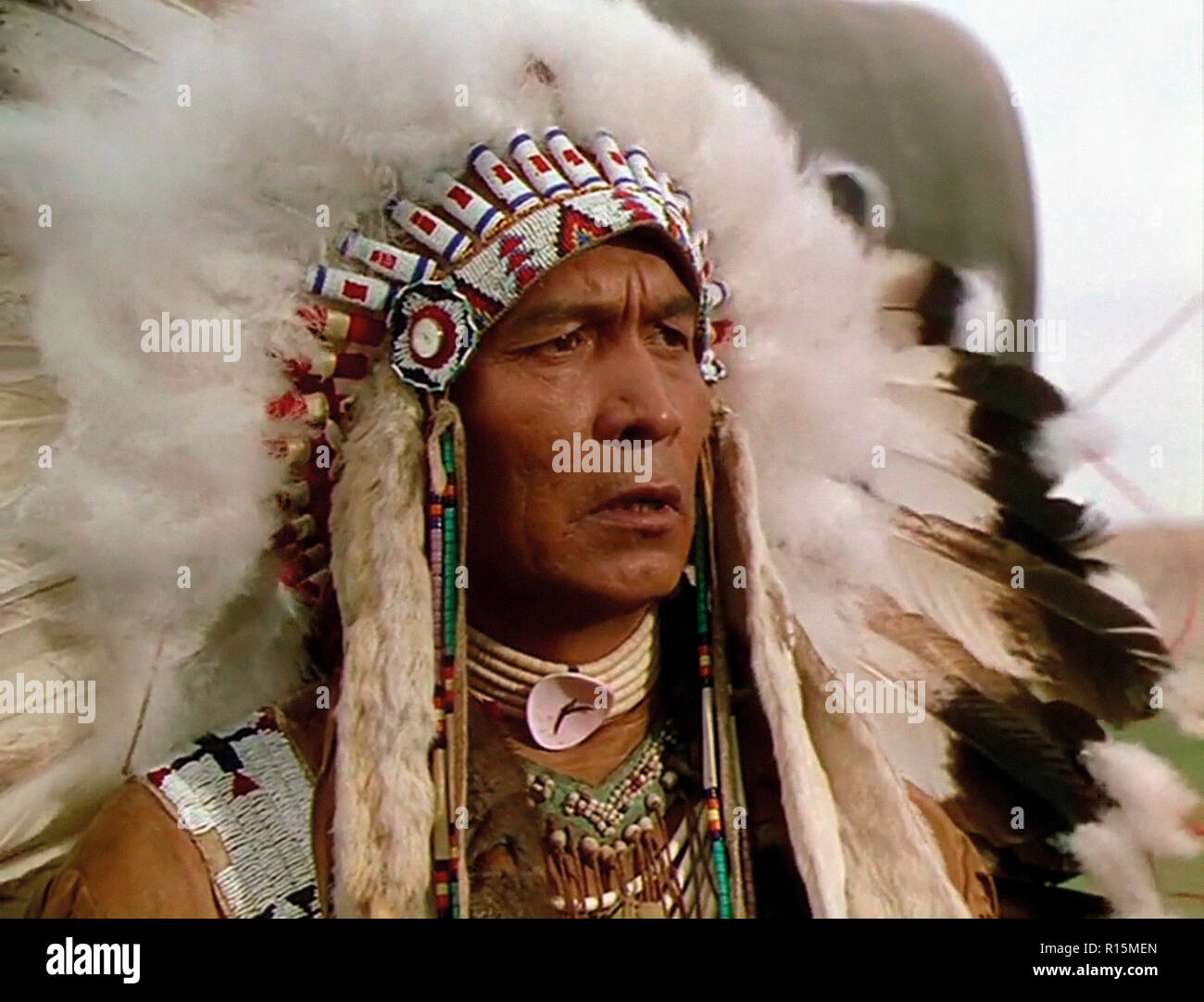 Prod DB © Universal International Pictures (UI) / DR TOMAHAWK de George Sherman 1951 USA John War Eagle. western; chef indien; indian chief - Stock Image