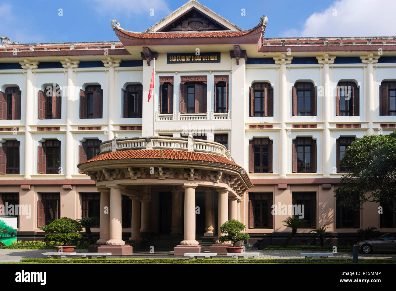 Front entrance to National Museum of Fine Arts or Bao Tang My Thuat. Hanoi, Vietnam, Asia - Stock Image