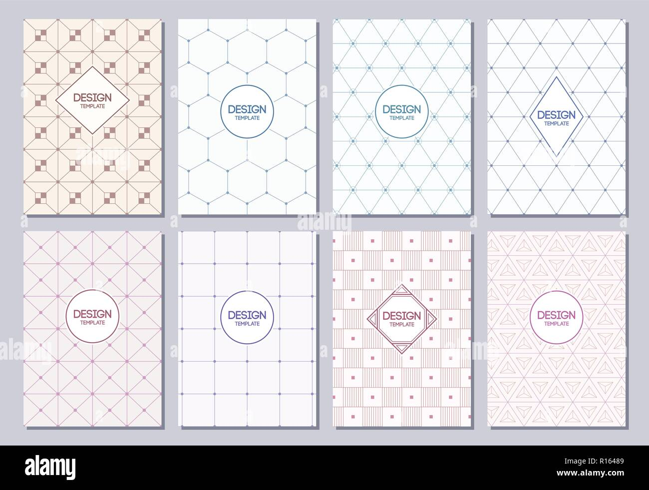 Set Of Flyers Posters Banners Placards Brochure Design Templates A6 Size Graphic For Logo Labels And Badges Abstract Geometric