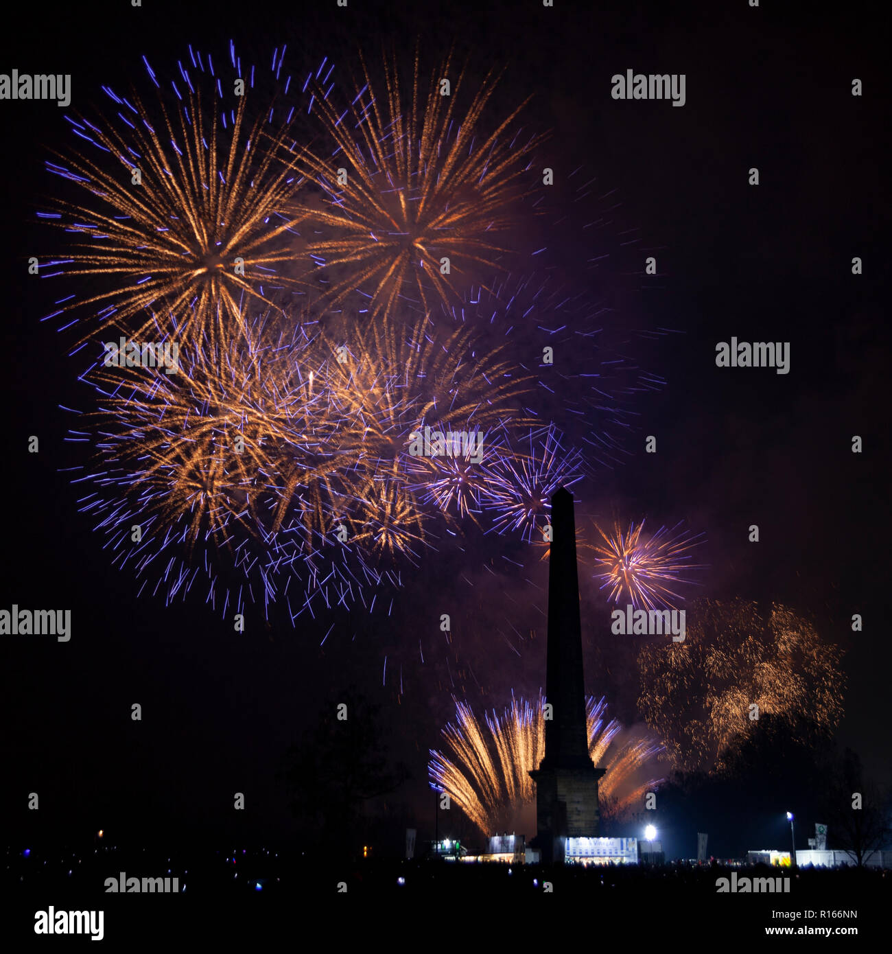 Glasgow Green Fire works - Stock Image