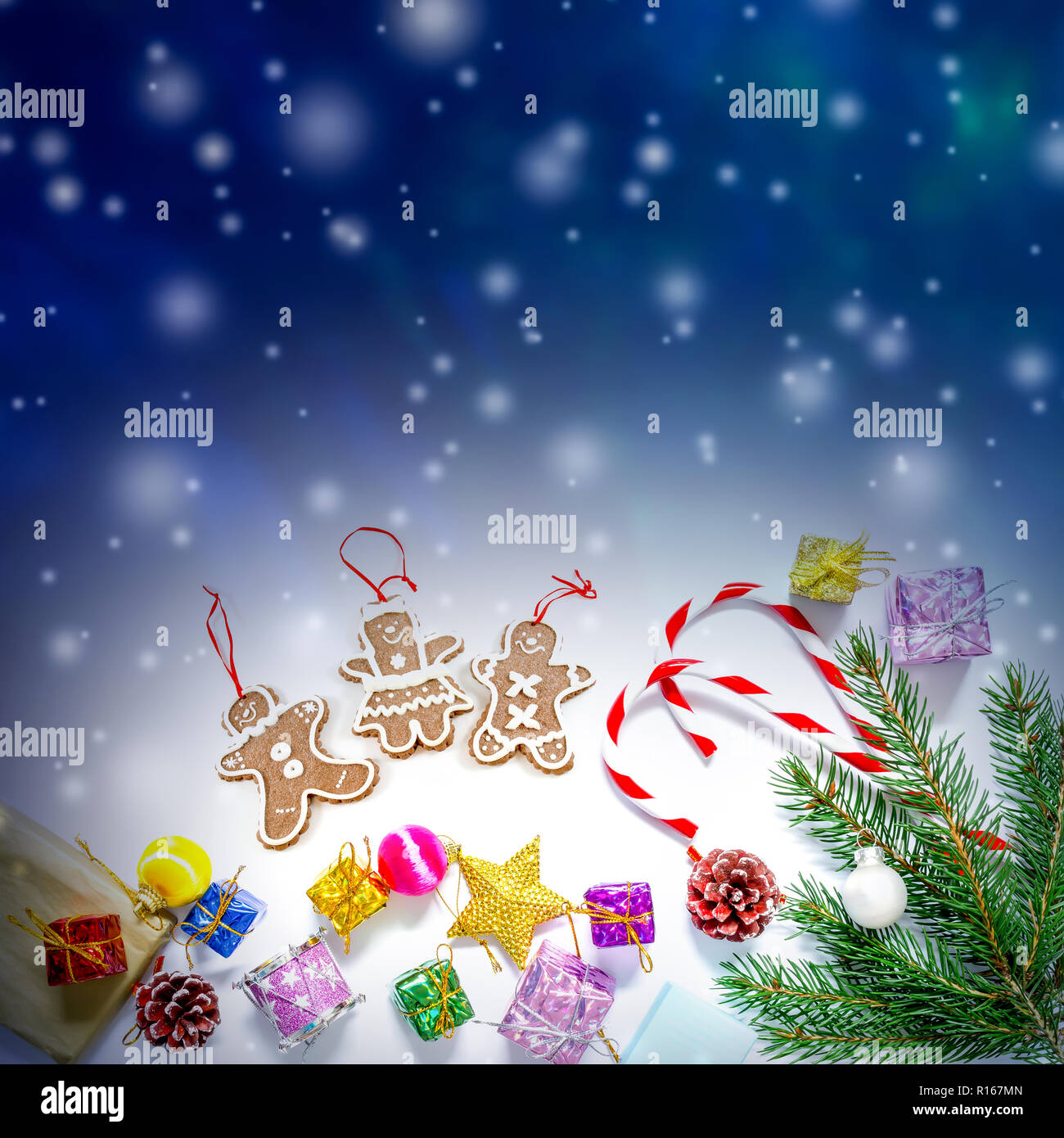 Beautiful Christmas.Beautiful Christmas And New Year S Background With Christmas