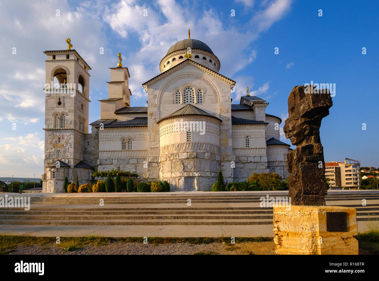 Serbian Orthodox Resurrection Cathedral, Saborni Hram Hristovog Vaskrsenja, Podgorica, Montenegro - Stock Image