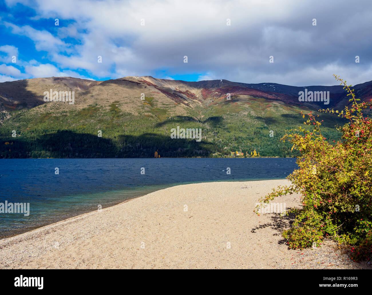 Munoz Beach, Gutierrez Lake, Nahuel Huapi National Park, Rio Negro Province, Argentina - Stock Image