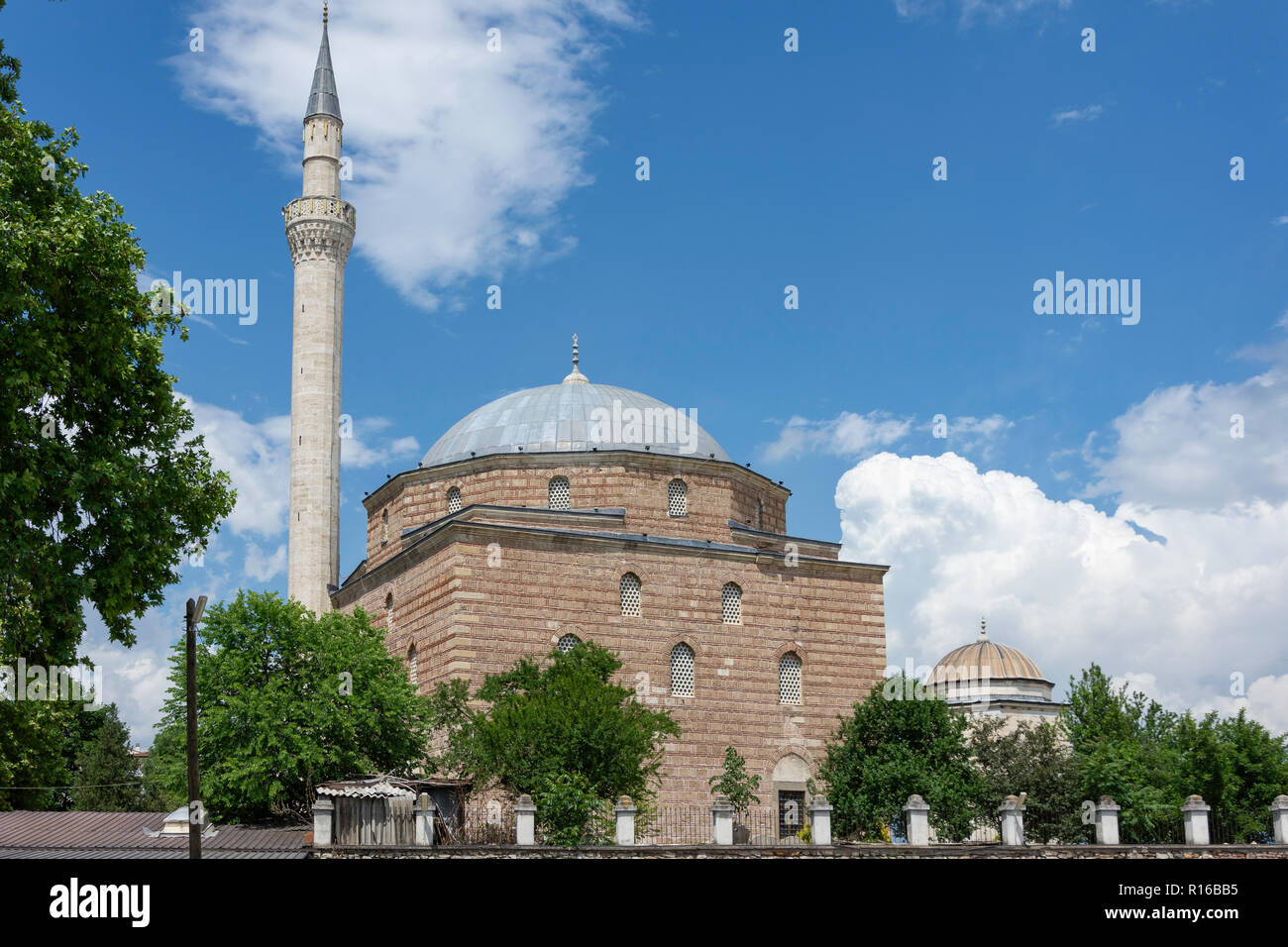 Mustafa Pasha Mosque, The Old Bazaar, Skopje, Skopje Region, Republic of North Macedonia - Stock Image
