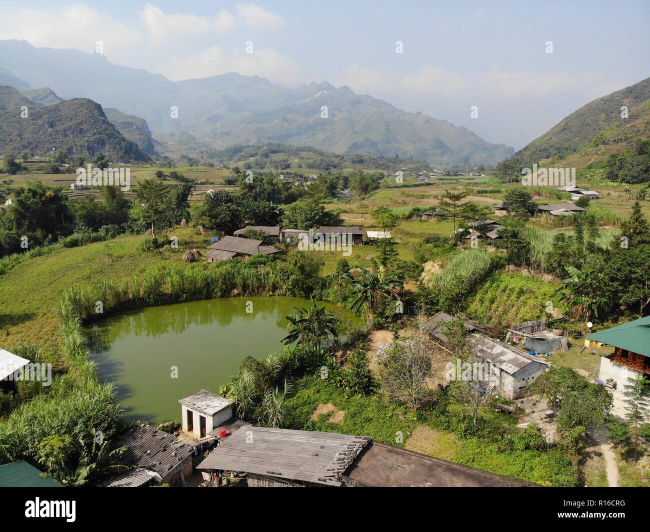 view of the nature in Du Già village in Ha giang province vietnam - Stock Image