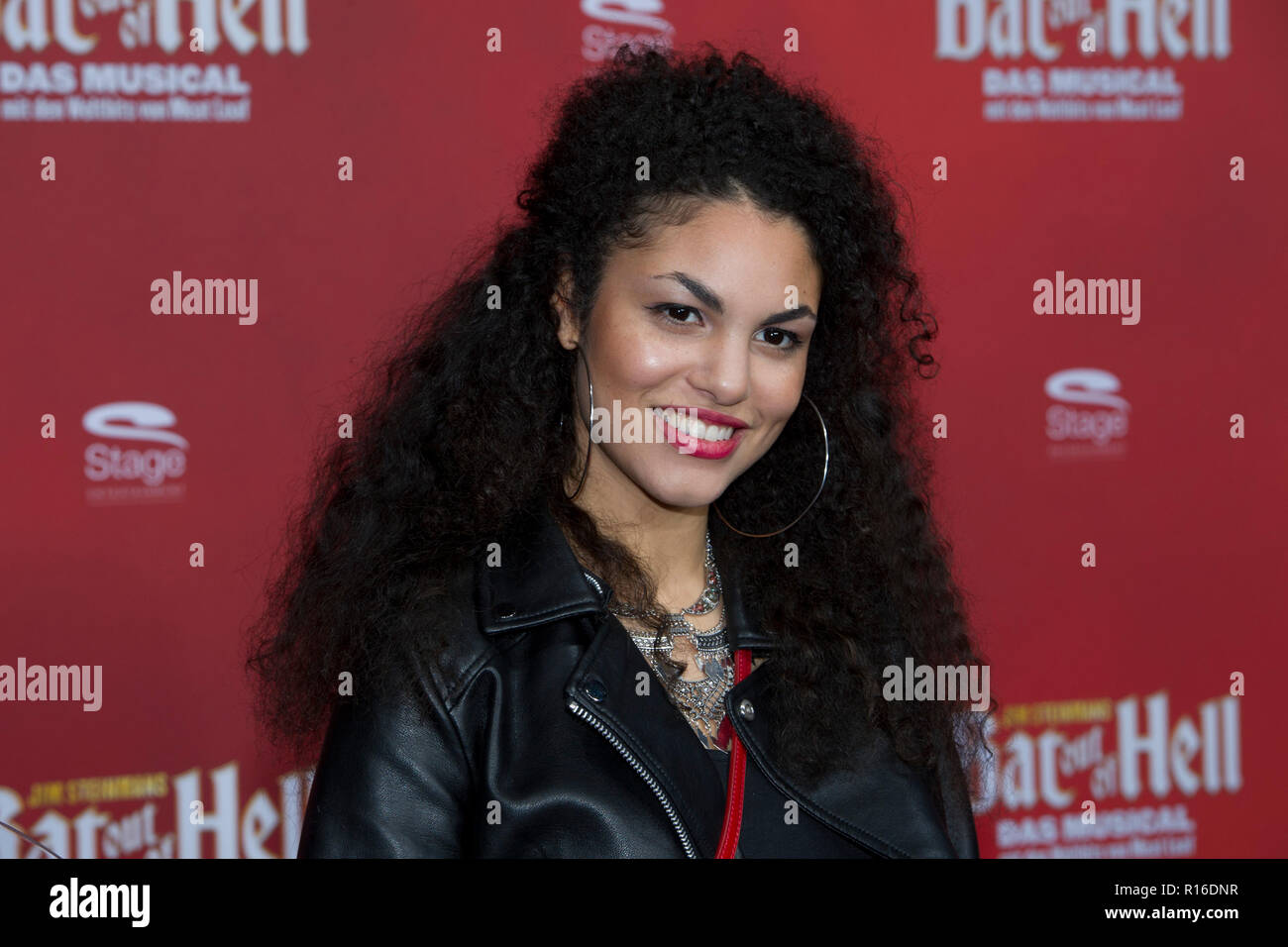Julianna TOWNSEND, Model, Red Carpet, Red Carpet Show, Germany premiere of the musical 'Bat out of Hell' at the Metronom Theater in Oberhausen, 08.11.2018, | usage worldwide - Stock Image