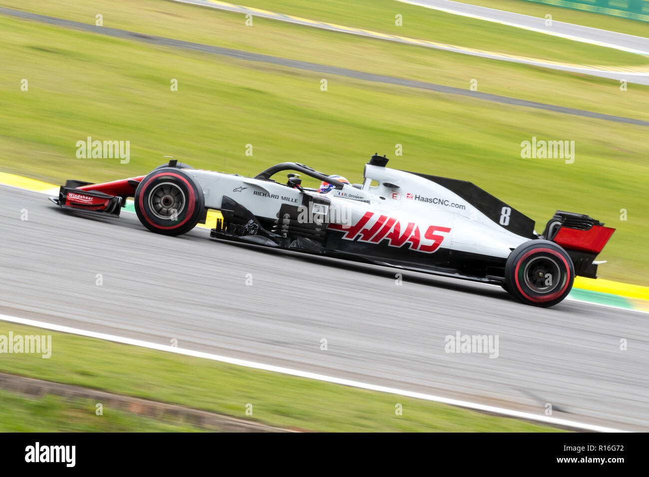 Circuit Interlagos : Sao paulo sao paulo brazil. 9th nov 2018. romain grosjean of